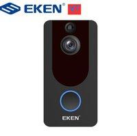 Eken V7 HD 1080p Smart Wifi Video-Türklingel-Kamera-visuelle Gegensprechanlage mit Glockenspiel-Nachtsicht-IP-Türklingel-Wireless-Sicherheit