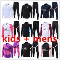 2122 REAL MADRID PSG; Messi Futebol Tracksuit Tracksuits Futebol Treinamento Ternos Kit Chandal Futbol Kids Men Boys Mens Jacket Tuta Set Sportswear