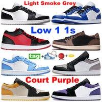 Com presentes 1 1s baixos sapatos de basquete luz cinza OG SP Cactus Trainers Shadow Unc Hyper Royal Homens Mulheres Sneakers