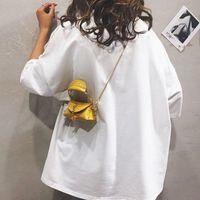 Evening Bags 2021 Female Personalized Portable Small Bag Chain Shoulder Messenger Lipstick Coin Purse Mini Handbag Metal Circle Belt