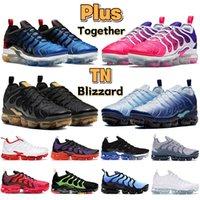 Com caixa mais tn homens correndo sapatos preto elétrico verde laser carmesim blizzard triplo ser verdadeiros homens treinadores mulheres sneakers