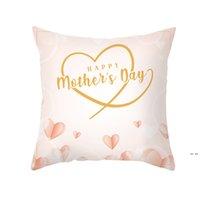 Feliz Día de la madre Funda de almohada Tela suave Flannellette Cuadrado 18x18 pulgada Cojín impreso floral DHE5363