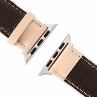 Luxury Real Leather strap for Apple Watch Band 38MM 40MM 42MM 44MM iwatch bands Trendy Replacement Watchbands Bracelet Fashion Stripes Stitc