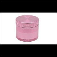 Outros diversões domésticas Home Jardim Gota entrega 2021 Crusher de erva rosa Tobao Fumo fumar Aessórios Moedor de Metal 50mm (1dot97inch) 55mm