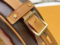 M52294 نيكولاس ghesquiere طباعة شعار الجلود قماش boite chapeau الحساء حزام قابل للتعديل سيدة قبعة مربع حقائب الكتف حقيبة يد حقيبة crossbody