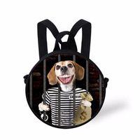 صاخبة التصاميم 2021 أزياء أطفال صغيرة مستديرة رياض الأطفال حقيبة 3d طباعة المحاصرين عارضة الحيوانات مضحك صور حقيبة الظهر