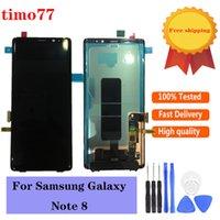 Original para Samsung Galaxy Note 8 N950 Pantalla celular Paneles táctil Paneles LCD Reemplazo de pantalla Conjunto completo con adhesivo