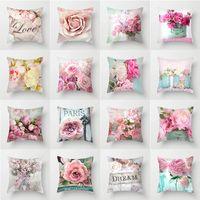 decorative pillow covers for christmas Halloween rose printed Short plush pillows 45*45CM bed soft bag pillowcase Cushion GWB10549