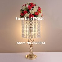 Party Decoration Modern Tall Candelabra Candle Holder Silver Gold Acrylic Plastic Wedding Centerpieces Candlesticks Table Sun124