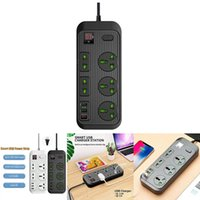 Smart Power Plugs Multifunctional Supply Board Household Wiring Pc With 5 Sockets