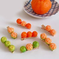 Creativity Funny Hairpins Yellow Orange Baby Girls Hair Clips Top Clips Cute Women Barrettes Ornament For Hair Accessories