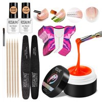 Nail Art Kits Q1QD Soak Off UV Builder Gel Polish With Brush Pen File Set For Nails Decoration Kit Extension