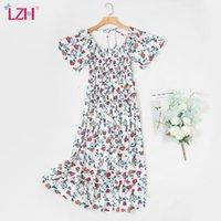 Maternity Dresses LZH Women's Clothes For Pregnant Women 2021 Summer Dress Clothing Pregnancy Po Shoot