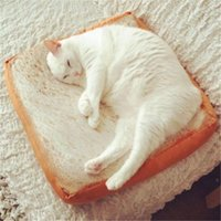 Cat Beds & Furniture Toast Bread Pillow Dog Pet Soft Sponge Cushion Mat Shaped Sleep Play Rest Bed Pad