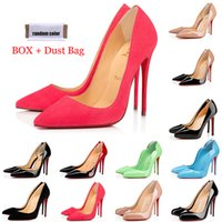 Newest Red Bott Toels Mujeres Vestido Zapatos Diseñador de moda 8cm 10 cm 12 cm SO Kate Tacón alto Redondo Período puntiagudo Bombas Bombas Fondos de deporte de fiesta de boda con caja Bolsa de polvo