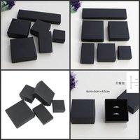 Yüksek Arşiv Siyah Kraft Takı Ambalaj Bilezik Kolye Yüzük Kulak Tırnak Kutusu Noel Yeni Yıl Hediye Sevgiliye Özelleştirmek 6 Boyutu 183 Q2