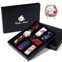 Relógios de pulso Wal-Joy Brand Charming Flower Pano Relógio para Mulheres Casual Tecido Strap Bandage Bow Senhora Impermeável DIY Set Presente