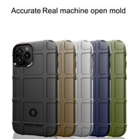 Rugged Shield Phone Cases For iPhone 12 11 Pro Max XS XR 6 6s 8 7 Plus SE2 Soft TPU Armor Non-slip Carbon Fiber Texture 3MM Back Cover