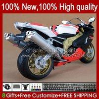 Moto Carrosserie pour Aprilia Mille RV60 RSV1000 R RR RR 2004 2006 2006 RSV-1000 RSV-1000 RSV1000RR RSV1000R 04-06 RSV 1000 R 1000R 1000RR 04 05 06 Kit de carénage GLSOSY WHITE