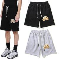 Moda Erkek Tasarımcı Şort Yüksek Sokak Rahat Kısa Pantolon Erkekler Için Mektup Baskılı Rahat Hip Hop Streetwear Stil Pantolon ST2109