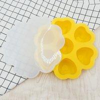 صندوق مكعبات الثلج بار سيليكون مكملات الغذاء مربع مع غطاء قابلة لإعادة الاستخدام على شكل قلب صانع أنبوب أنبوب للمشروبات الويسكي وكوكتيلات GWD5784