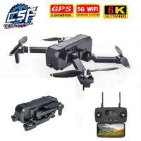 Yeni KF607 Drone 6K ile 5G WiFi FPV 1080 P 120 Derece Geniş Açılı HD Kamera GPS Konumlandırma RC Flodable Quadcopter Helicopte 210325