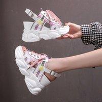 Сандалии Moipheng платформа женщины 2021 летние коренастые высокие каблуки женские квички обувь для рыбы ноги белая сандалия Феминина