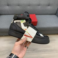Top Quality Hommes Casual Chaussures Cuir Véritable Cuir Haut-Up Hommes Hommes Hommes Stripe Steps Flat Ouvrir Designers Sneakers TPU Semelle Semelle Entreprise confortable Sneaker 38-44