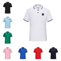 남성용 폴로스 최고 품질의 고전적인 티셔츠 반팔 여름 코튼 자수 럭셔리 티셔츠 새로운 디자이너 폴로 셔츠 높은 거리 티