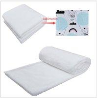 담요 흰색 승화 담요를받는 빈 승화 아기 침대 유아용 유모차 여행 DIY 76 * 102에 대한 소프트 따뜻한 열 전달 유아 신생아 담요