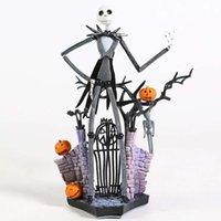 Nightmare Neewlve antes de Natal Jack Skellington PVC Figura Brinquedo Decoração de Casa Boneca Dom Halloween Presente