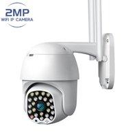Seguridad de la cámara Externa Video al aire libre 1080P HD WiFi Vigilancia 2MP Impermeable inalámbrico 360 PTZ Auto seguimiento Noche Visión de la noche Cámaras IP