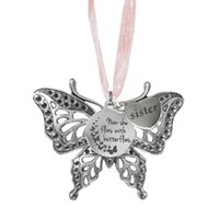 Decorative Objects & Figurines Retro Butterfly Pendant Commemorative Hanging Decoration Wholesale Alloy Animal Jewelry Necklaces For Gifts