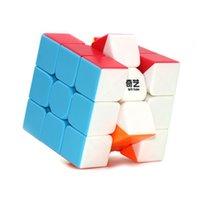 2021 QIYI 스피드 큐브 매직 Rubix 큐브 전사 5.5cm 쉬운 터닝 스티커 초보자 플레이어를위한 무료 내구성 736 x2