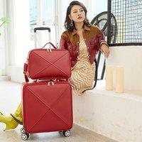 핸드백 여성이있는 슈퍼 세련된 여행 수하물 세트 트롤리 가방 가방 남성 비즈니스 밸리어 16/20/24 인치 패션 가방 여행 가방
