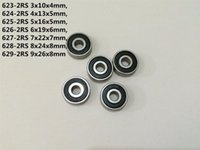 Bearings 2-10pcs 623-2RS 624-2RS 625-2RS 626-2RS 627-2RS 628-2RS 629-2RS Rubber Sealed Bearing Deep Groove Ball