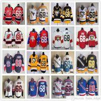 Vintage ccm 68 jaromir jerseys pittsburgh pinguins hóquei gelo jaromir jermoy vermelho vermelho costurado vermelho retro azul amarelo azul