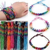 Charm Bracelets Wholesale 10 Pcs Lots Handmade Wood Beads Cuff Bangles For Women Girls Friendship Jewelry Accessories