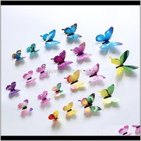 3D Butterfly Wall Stickers 12Pcs Set Home Decor Muti Colors Butterflies Walls Decors Colorful Poster Window Decoration Decal 0 9Gs C2 O7K1N