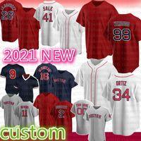 New Baseball Jersey Boston 99 Alex Verdugo 9 Ted Williams 28 J.D. Martinez 34 David Ortiz 41 Chris Vendita 2 Xander Bogaerts 29 Bobby Dalbec 11