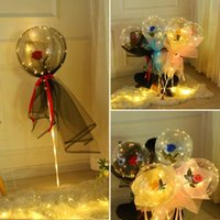 Party Decoration LED Rose Bobo Balloons For Christmas Valentine's Day Wedding Birthday Romantic Girlfriend Surprise Gift