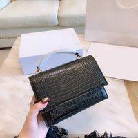 2021 SS LADY Fashion Brieftasche Krokodil-Plain-Handtasche Alltag Casual Luxurys Designer Catch Frauen Innen-Slots Taschen Kreuz Körper Geldbörse