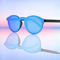 Colors Brand Bamboo Женщин Солнцезащитные очки Классический Круглый Форма Мода Ретро Поляроидные Линзы UV400 Очки Gafas De Sol