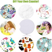 Sublimation Coaster Neoprene DIY Blank Table Mats Heat Insulation Thermal Transfer Cup Pads Coasters Customized Gifts FWA5585