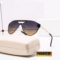 1726M de alta qualidade designer de moda marca óculos de sol para homens e mulheres viajar compras uv400 proteção retro máscaras piloto