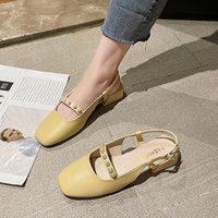 Sandals Low Woman Leather Espadrilles Platform Shoes Lady 2021 Clear Heels Med Suit Female Beige Mary Jane Low-heeled High Fashi