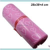 التعبئة مكتب المدرسة الصناعية 28x38 4 سم الوردي لاصق آخر البريد البريد البريد الحقيبة للأعمال مصنع لوازم الذاتي ختم expr
