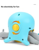 DHL 플로팅 아기 욕조 장난감 1 년 동안 유아 선물 수영장 해변 샤워 장난감 아이들 2 ~ 4 년간 당겨 라인 낙지 욕실 도매 xz3269