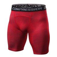 Стиль дышащих мужских сжатие шорты MMA тренировки фитнес нижние дна кожа туго обмороки короткие штаны