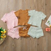 Infant Clothing Sets Girls Outfits Boys Baby Clothes Children Suits Summer Cotton Short-Sleeved T-shirts Shorts Two-Piece